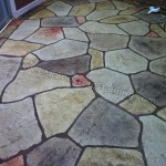 flagstone sta,ped concrete overlay