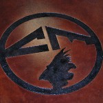 Stained Concrete Engraved Logo
