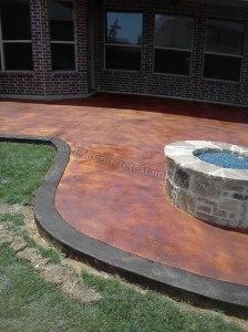 Acid Stained Concrete Patio South Lake, TX
