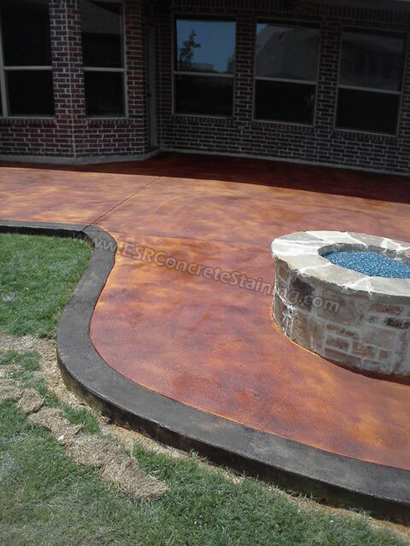 Concrete Staining Trophey Club Tx1 Esr Decorative