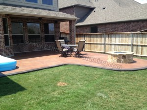Acid Stained Concrete Patio