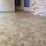 Ashlar Slate Stamped Concrete Overlay