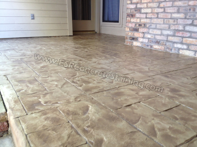 Stamped Concrete Overlay Red Oak TX ESR Decorative Concrete