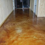 Cowboy Church concrete staining Red Oak, TX