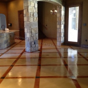 micro finish acid stained concrete
