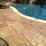 Slate Stamped Concrete Pool Deck Frisco Texas