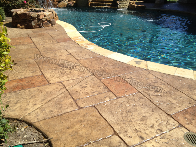 Stamped Concrete Pool Deck Frisco Tx