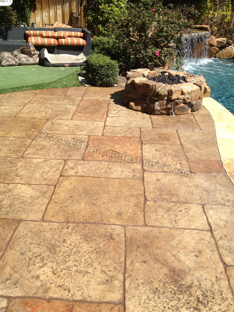 Stamped Concrete Overlay Pool Deck Frisco Tx15 Esr