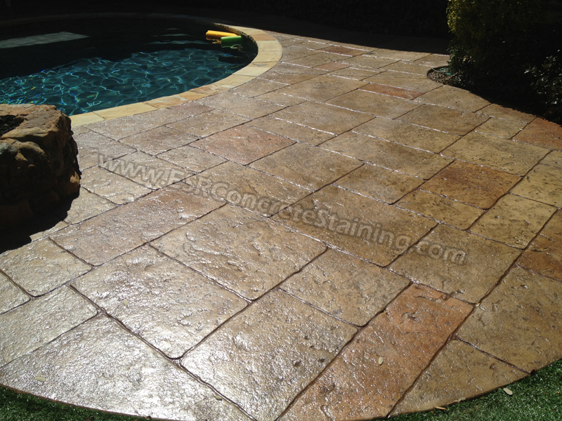 Stamped Concrete Overlay Pool Deck Frisco Tx2 Esr Decorative Experts Staining And Engraving