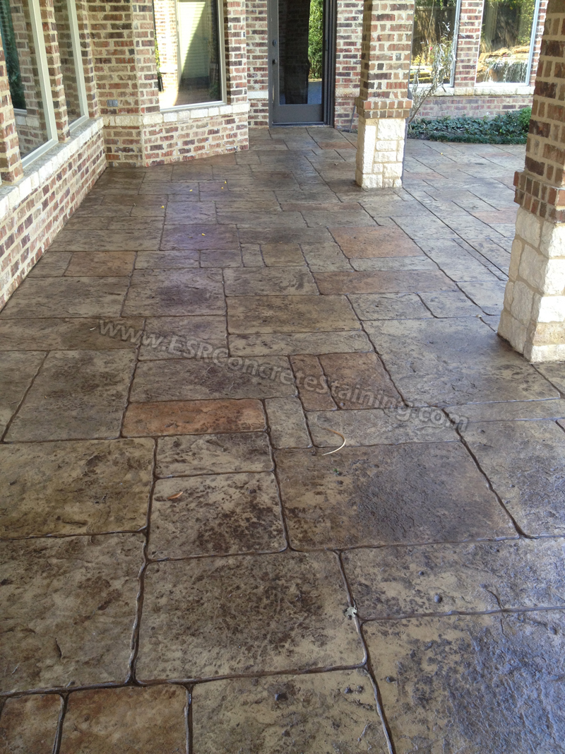 Stamped Concrete Overlay Pool Deck Frisco Tx4 Esr