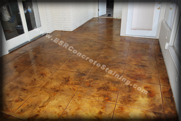 Acid stained concrete floors are great for new and old concrete floors ...