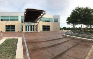 stained concrete cedar hill texas recreation center