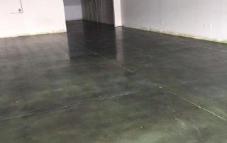 Green Dye Polished Concrete Flooring