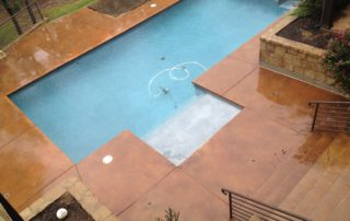 Stained Concrete Pool Deck Lewisville Texas
