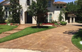 Stained Concrete Driveway Trophy Club Texas
