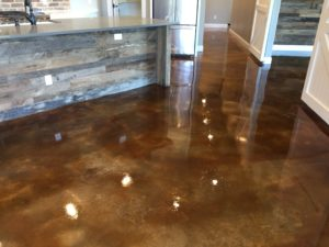 Acid Stained Concrete Project Midlothian, Texas