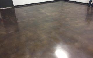 Polished Concrete Flooring Walnut Dye