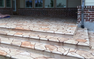Stamped Overlay Concrete Patio