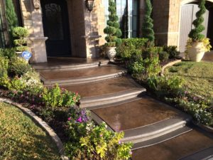 Stamped Concrete Walkway Dallas Texas