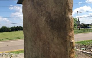 Vertical Stamped Concrete Monument Sign Cedar Hill Texas