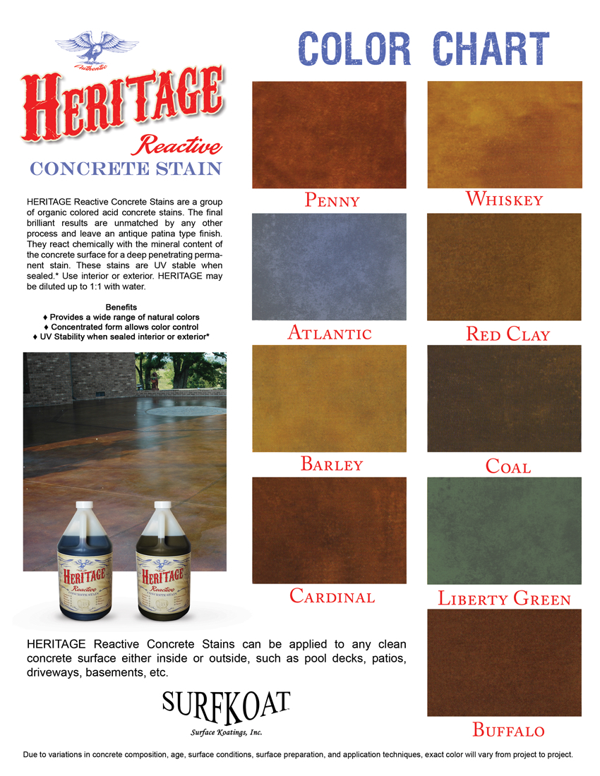 Concrete Acid Staining Color Chart Texas